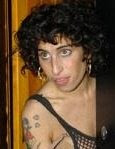 Amy Winehouse without beehive wig