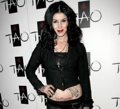 Tattoo artist and television celebrity Kat Von D pictured yesterday at the