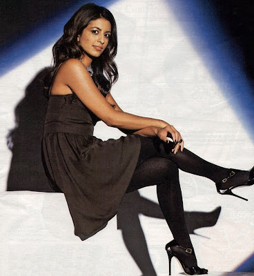 Konnie Huq stockings and high heels