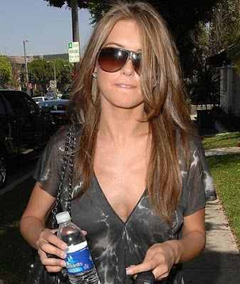 With her hair a few shades lighter than usual Audrina Patridge is spotted in