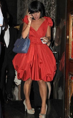 Lily Allen puff ball dress