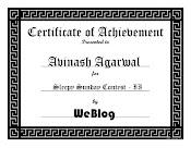 WeBlog Contest Winner