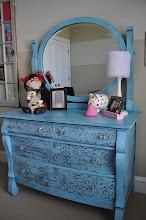 Silver Aqua Dresser