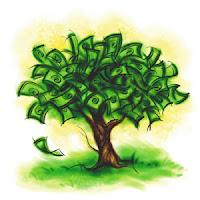 dinheiro em árvore