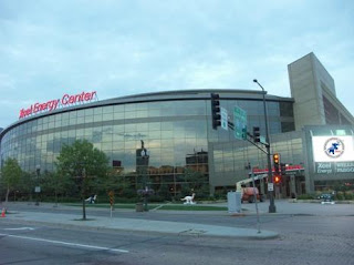 Street View from W 7th of the Xcel Energy Center
