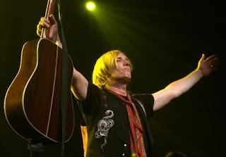 Tom Petty of the Heartbreakers on stage after a concert