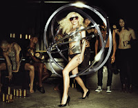 Monster Ball Tour promotional photo of Lady Gaga and backup dancers