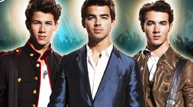 The Jonas Brothers as featured on the Jonas Brothers Concert Posters from the 2010 Jonas Brothers Summer Tour
