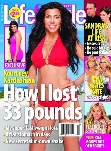"Kourtney Kardashian Covers ""Life & Style"" Magazine"