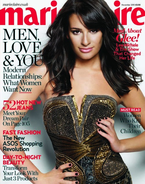 "Lea Michele Gets GLAM For ""Marie Claire"" Magazine!"