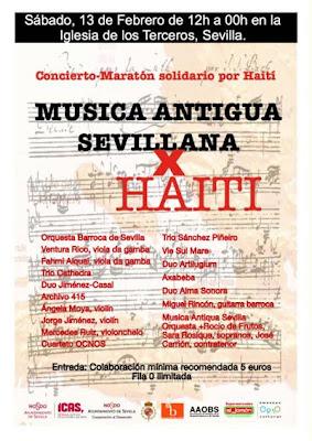 Cartel oficial del Maratón por Haití