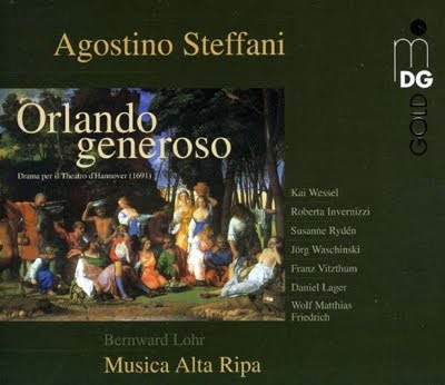 Orlando generoso de Agostino Steffani en MDG