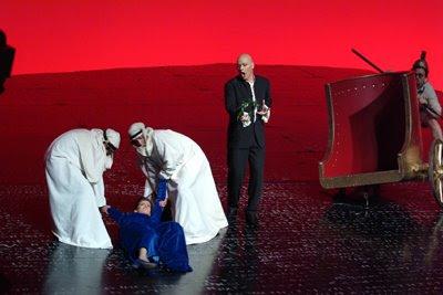 Giulio Cesare en la producción de Herbert Wernicke para el Liceo de Barcelona (© Bofill)