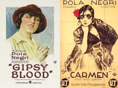 Carteles de Carmen y de Gipsy Blood de Lubitsch