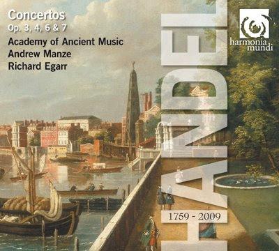 Concierto Opp.3, 4 y 6 de Haendel en Harmonia Mundi