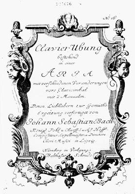 Frontispicio de la edición original de las Variaciones Goldberg de Bach
