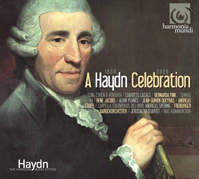 Disco presentación de la Haydn Edition de Harmonia Mundi