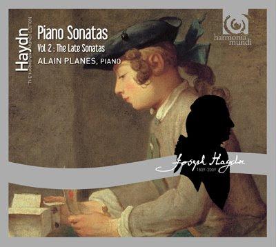 Sonatas finales para piano de Haydn por Alain Planès en Harmonia Mundi