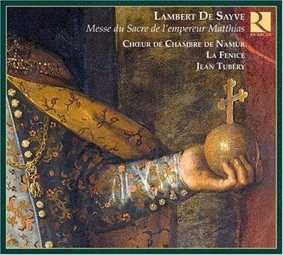 Un disco dedicado a Lambert e Sayve por Jean Tubéry en Ricercar