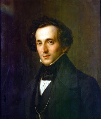 Mendelssohn retratado por Theodor Hildebrandt en 1833