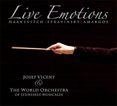 Live Emotions, obras de Stravinski, Markevitch y Amargós por la Orquesta Mundial de Juventudes Musicales dirigida por Josep Vicent