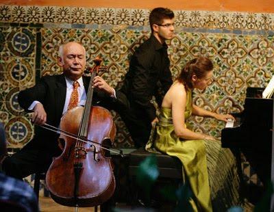 Tsuyhosi Tsutsumi y Benedicte Palko en la inauguración del Festival Turina (© Antonio Pizarro / Diario de Sevilla)