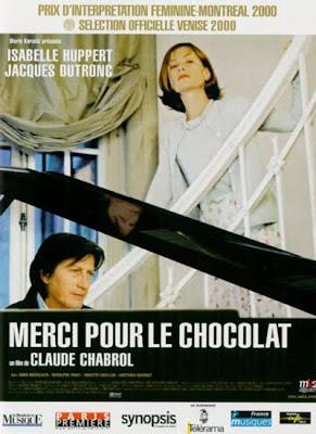 Cartel anunciador de Gracias por el chocolate de Claude Chabrol