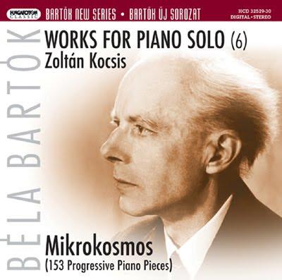 Mikrokosmos de Bartók por Kocsis en Hungaroton