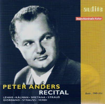 Recital de Peter Anders en Audite