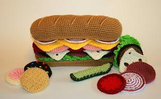 hamburger feito em croché
