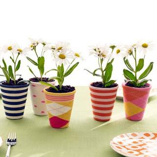 decoração de vasos com meias