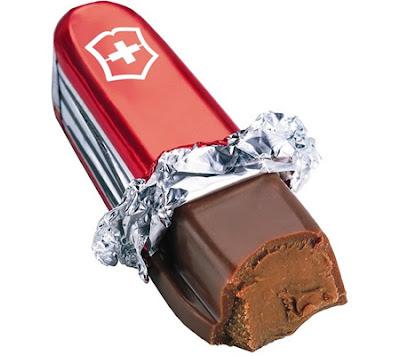 Arte com chocolate