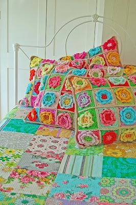 almofadas de croché