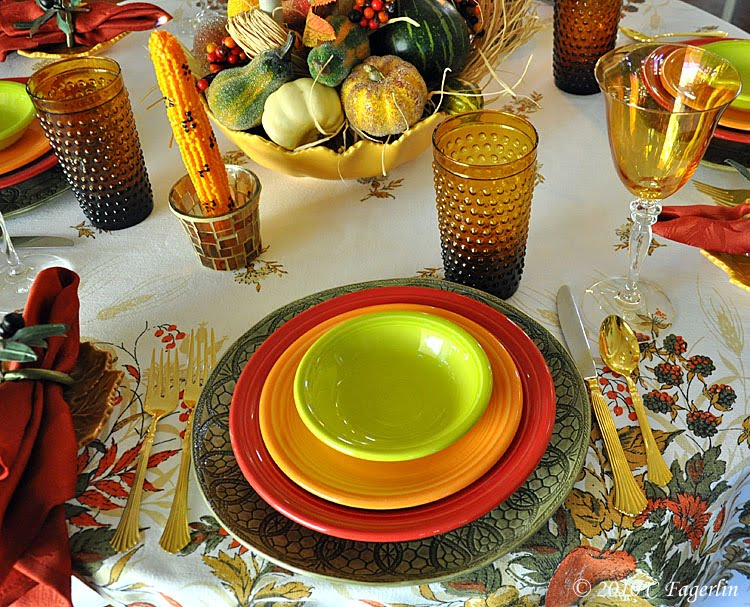 Setting Your Table For Thanksgiving With Color Whimsy And Creativity & C. Dianne Zweig - Kitsch u0027n Stuff: Setting Your Table For ...