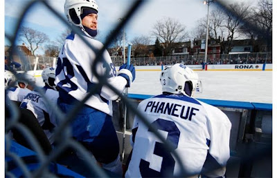 phaneuf leafs winter