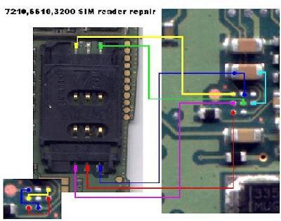 NOKIA 7210/6610/3200 sim reader repair