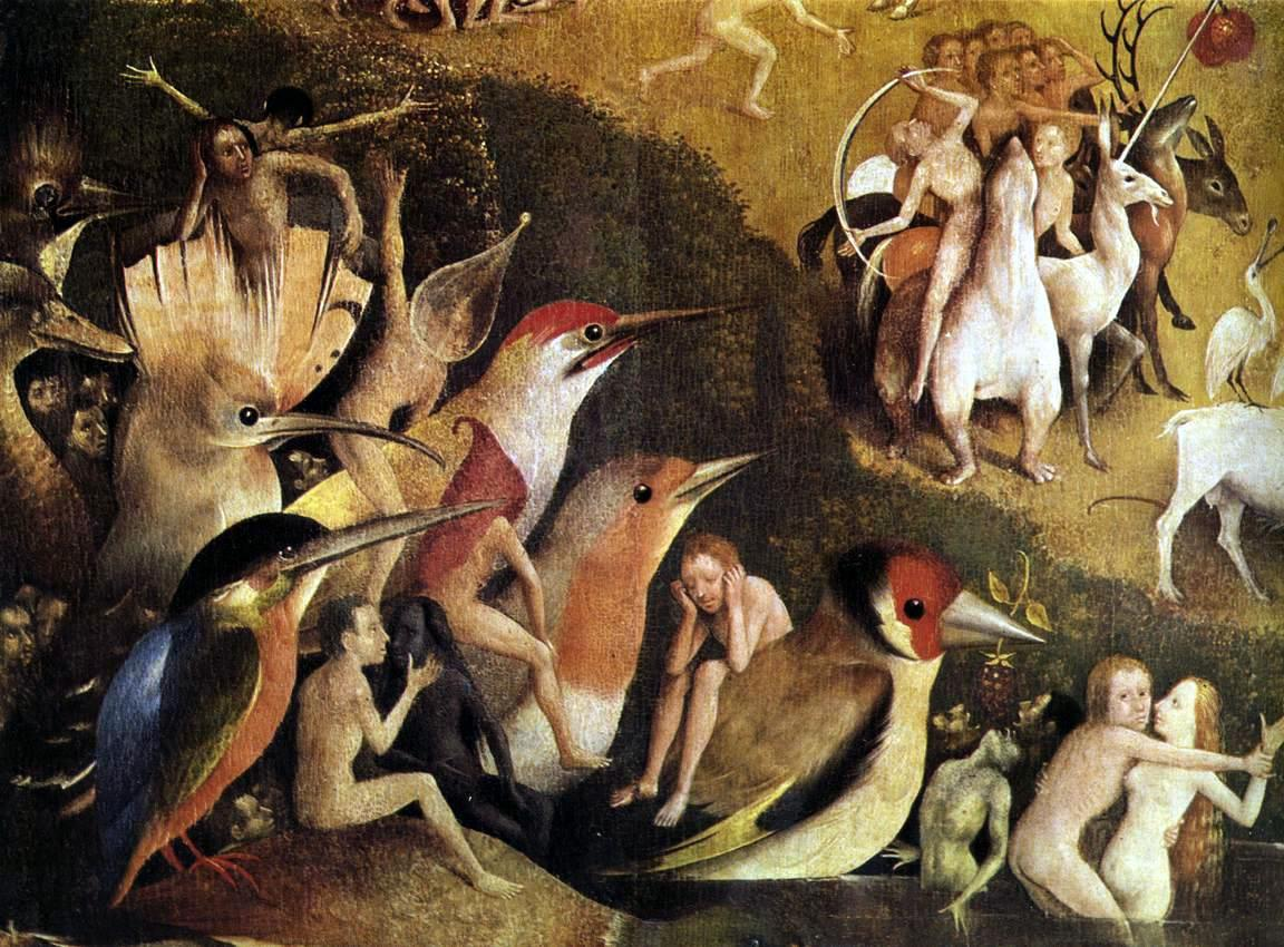 When thou seest an eagle hieronymus bosch as a birder for Bosco el jardin de las delicias