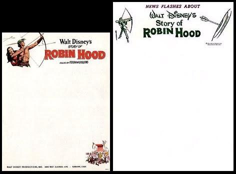 Walt Disney's Story Of Robin Hood: Story of Robin Hood Letter Headings