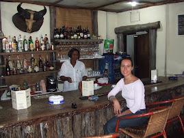 No bar do hotel Shangri-la
