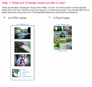 pasang flickr badge kedalam blog