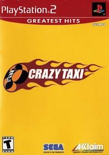 Crazy Taxi - PS2 Crazy Taxi é um jogo de simulação louca de táxi. Seu principal objetivo é pegar clientes e levá-los aos seus devidos destinos o mais rápido possível para marcar o maior numero de pontos.