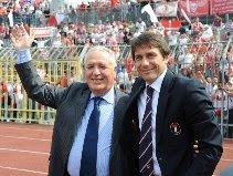 President Vincenzo Matarrese & former coach Antonio Conte