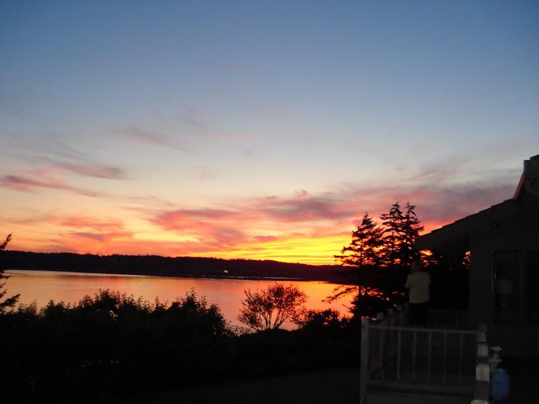Sunset at Useless Bay, WA