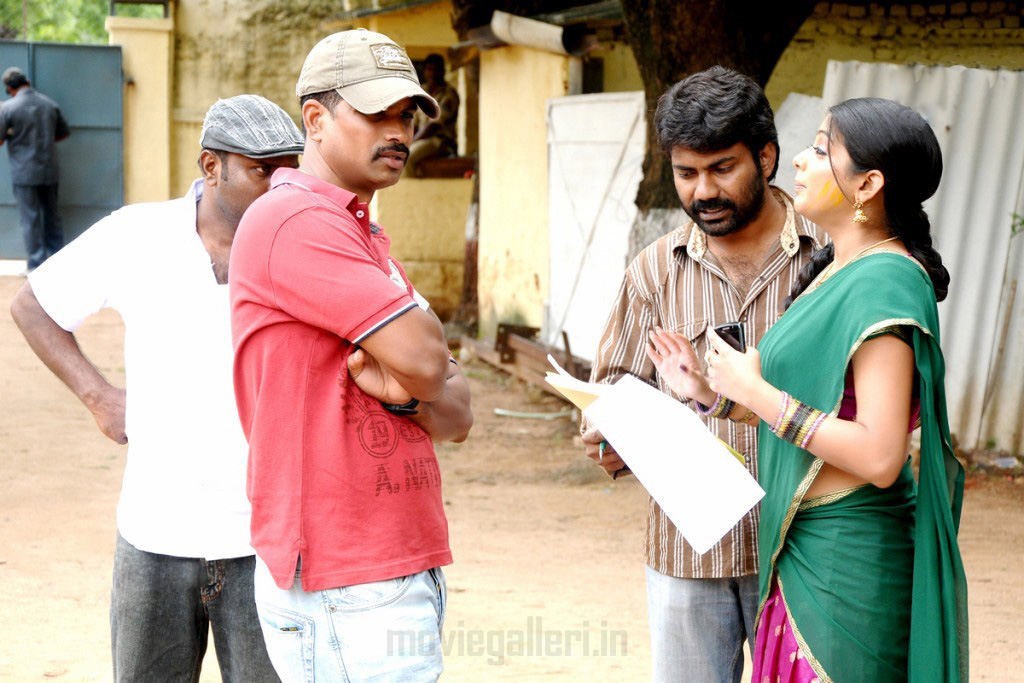 ragada movie working stills, on shooting pictures collection