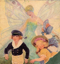 A Sweet Painting of a Faerie and Children From The 19th Century