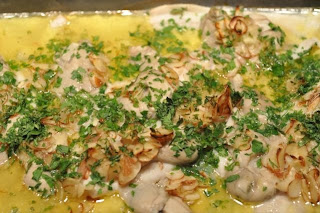 LI Flounder and Peconic Oysters Meuniere Sauce (Butter, Almonds, Lemon ...