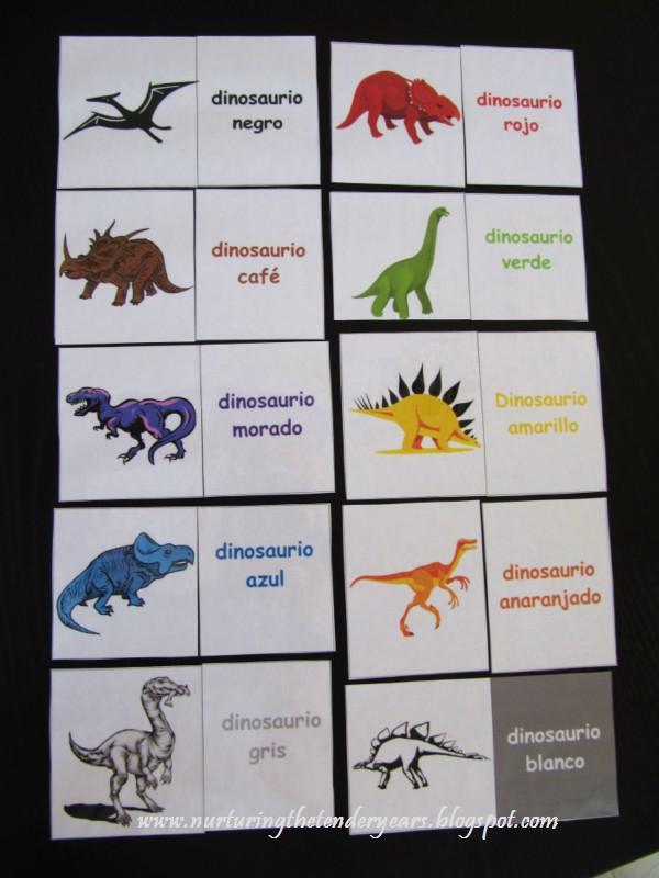 picture about Dinosaur Matching Game Printable known as Nurturing the smooth several years: Taking commenced upon Spanish
