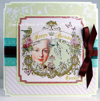 Happy Birthday Queenie! French Inspired Greeting Card
