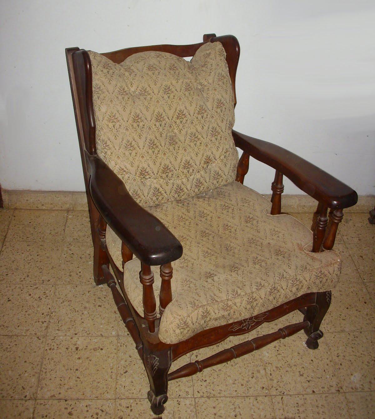 Muebles usados sillones de madera x2 for Sillones de terraza usados