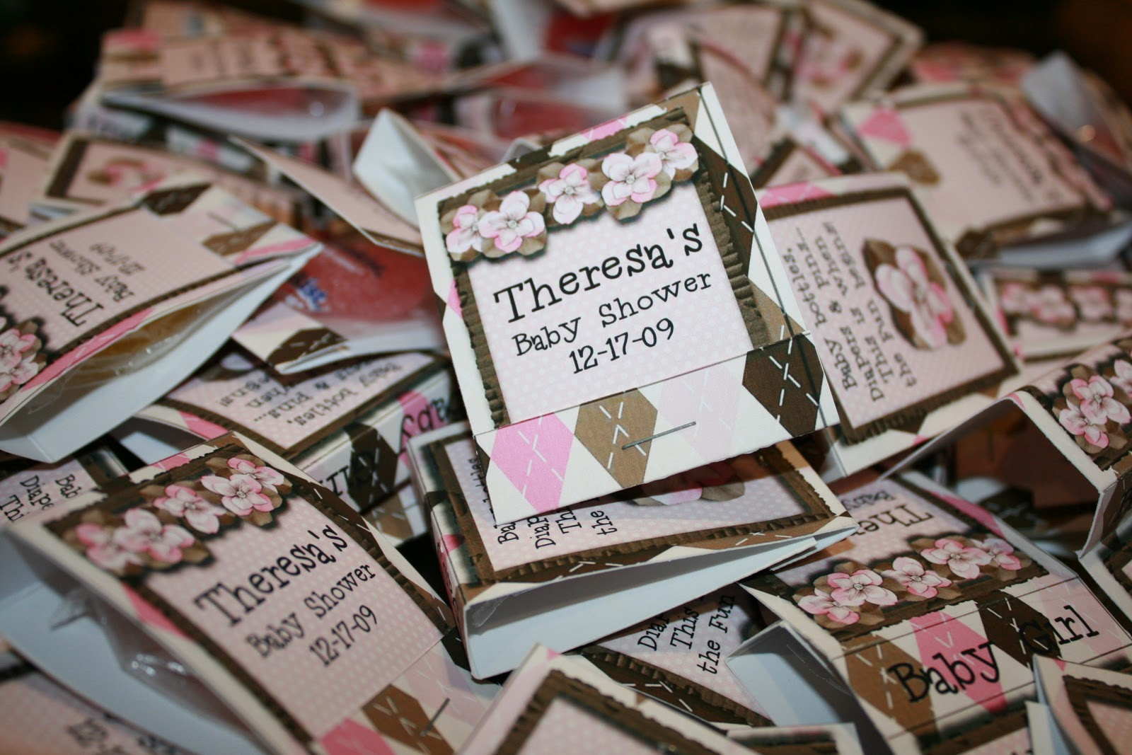 sweetheart scraps pink chocolate baby shower favors cd cover